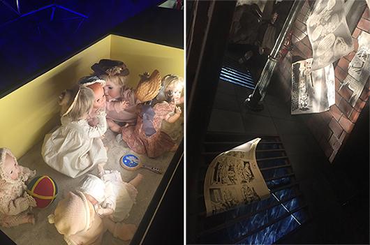Dockor som tisslar och tasslar i sandlådan och serierutans berättarkonst som förvandlas till en actionscen, två exempel på levandegörande gestaltning. Foto: Pia Cederholm