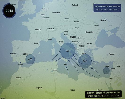 De olika flyktvägarna redovisas föredömligt tydligt. Foto: Jan Ohlin