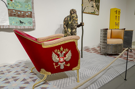 Skräddarsydda fåtöljen Kreml, 2002. Foto: Björn Strömfeldt