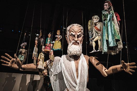Gud, marionett ur Fanny och Alexander. Dockmakare: Arne Högsander. Foto: Jonas André, Scenkonstmuseet