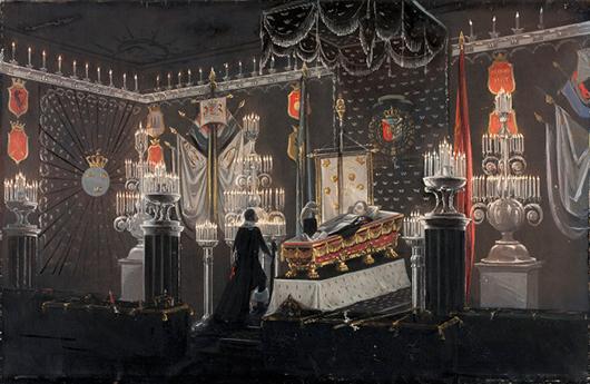 Riksmarskalk Magnus Brahe vakade outtröttligt vid Karl XIV Johans dödsbädd. Foto: Jens Mohr