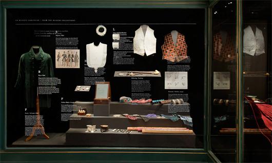 Dandystilen bestod bland annat av en rad omsorgsfullt utvalda attribut.  Foto: Karolina Kristensson, Nordiska museet