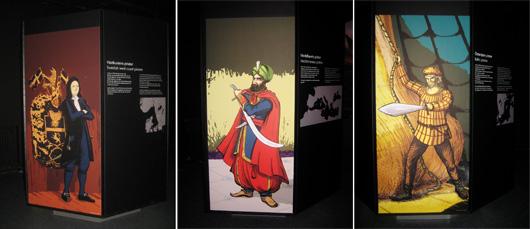 Skeppredare Gathe, sedermera adlad Gatenhjelm hade kungligt kaparbrev; Muslimska pirater härjade i Medelhavet i krigen mellan kristna och muslimer ända fram till 1800-talet. Adelsmannen Klaus Störtebeker var en av de mest fruktade piratledarna i slutet av 1300-talet.  Illustrationer: Stefan Lindblad