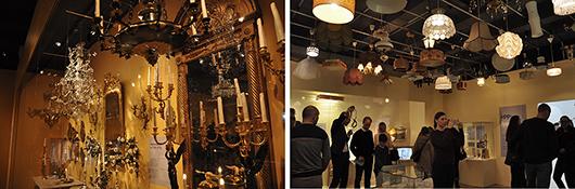 Lampor från alla tider lyser upp Artur Hazelius stolta museum.