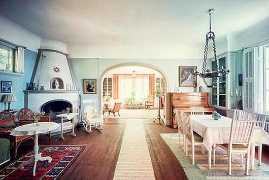 På Strand byggde och inredde Ellen Key sitt hem enligt den smakfulla estetik som blev ledstjärnan för svensk design. Foto: Erik Lernestål