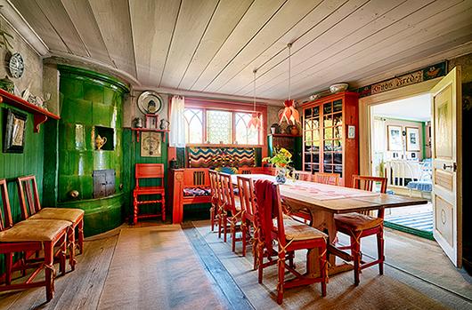 Den heminredningsstil som Carl och Karin Larsson skapade i Sundborn kom att bli en hörnsten i svensk design såväl som i den svenska självbilden. Foto: Erik Lernestål