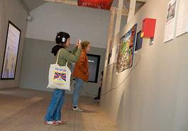 Utställningens kärna skall föra tankarna till en tunnelbanestation.