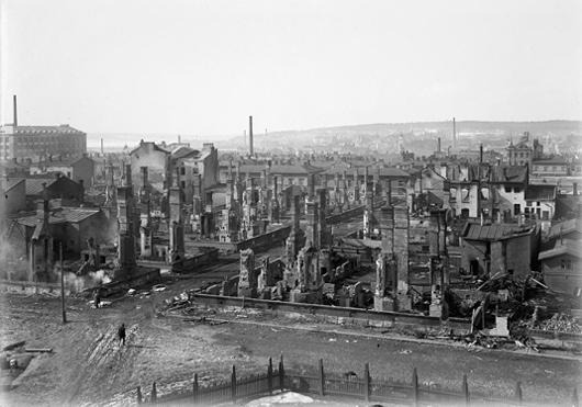 Kriget mellan de vita och de röda ödelade stora delar av Tammerfors.