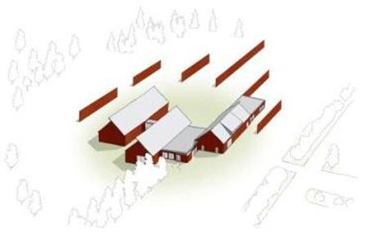 Illustration av John Nelander efter Renzo Pianos arkitektkontors ursprungsidé för Vandalorums gestaltning.