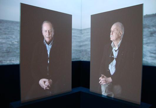 Varje utställningsfilm bestod av fyra filmer, projicerade på fritt stående väggar i utställningsrummet. Smart!