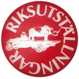 Noshörningen – Riksutställningars första logotype. Riksutställningars fotoarkiv