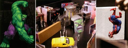 Hulken och Spiderman som inramning för berättelser om neurologi och kemi.