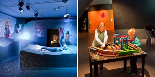I dag öppnar ingen ny basutställning som helt saknar anpassning till barn och unga. På Sjöfartsmuseet Akvariet i Göteborg finns TS/Supertuben där tonåringar undersöker världen både under och ovan vattenytan. Foto: Sjöfartsmuseet Akvariet