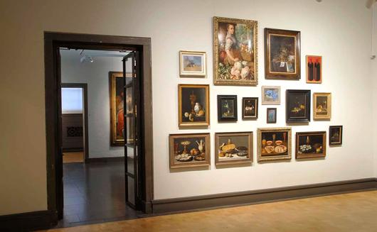 Tematisk utställning med stillebenbilder från olika tider utvalda och hängda 2009. Foto: Lars Noord, Göteborgs Konstmuseum