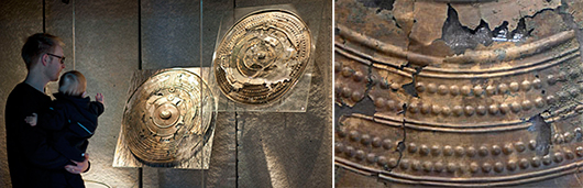 De tretusen år gamla bronssköldarna är museets finaste och mest gåtfulla klenod.