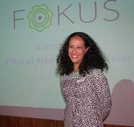 Diana Chafik, projektledare för FOKUS. Foto: Ken Stuckey
