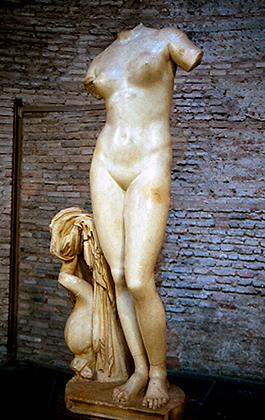Venus från Kyrene. Romersk kopia av en grekisk Afroditeskulptur. Bortförd till Rom 1915, återlämnad till Libyen 2008. Foto: Roms museer