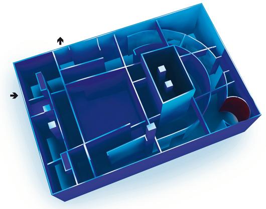 Planritning över Labyrinten.