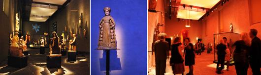 Utställningens scenograf och ljussättare är hämtade från teatern.
