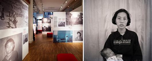 Översikt och detalj ur Middag med Pol Pot. Foto: Mattias Nero