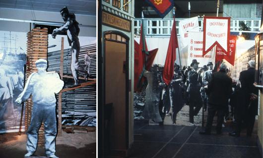Människorna före föremålen, var stridsropet även i Sverige i början av 1970. Riksuställningars Land du välsignade (1973) skildrar arbetarrörelsens framväxt i industrialismens barndom. Foto: Olof Wallgren Riksutställningar
