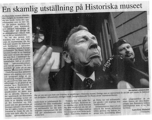 Insändare i Smålandstidningen 2004-01-24