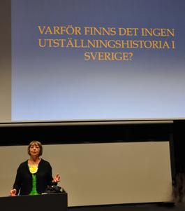 Eva Persson föreläser i Norrköping i samband med promoveringen till hedersdoktor vid Linköpings universitet. Foto: Pia Cederholm